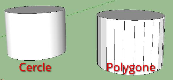 différence cercle/polygone