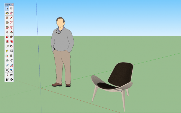 chaise ch07 sketchup